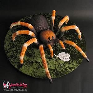 3D Tarantula Spider Cake - Yeners Way