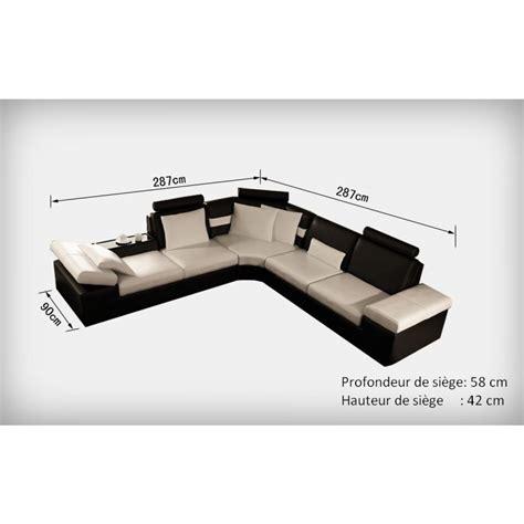 dessus de canapé d angle canapé d 39 angle design en cuir pleine fleur monaco pop