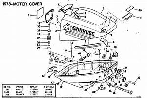 Evinrude Motor Cover Parts For 1978 15hp 15804b Outboard Motor