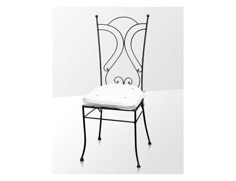 chaise en fer la métallerie chaise en fer forgé avec coussin