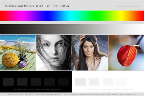 Monitor And Printer Test Chart Adobergb