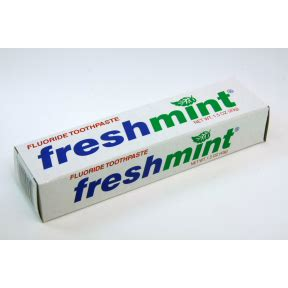 freshmint toothpaste  oz tube   box travel size