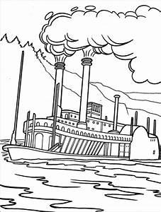 Steam Boat Drawing At Getdrawings