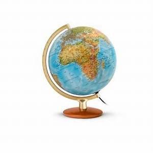 Globe Terrestre Bois : globe terrestre lumineux 30 cm bois et m tal premium ~ Teatrodelosmanantiales.com Idées de Décoration