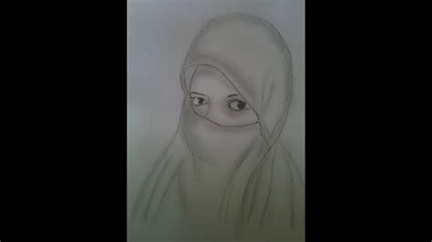 drawing girl  hijab  mukabbir jim youtube
