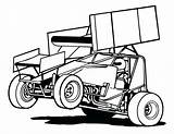 Sprint Race Racing Clip Clipart Dirt Drawing Outline Silhouette Speedway Decal Coloring Template Late Vector Track Trailer Line Cliparts Google sketch template