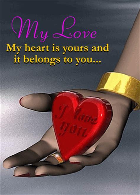 heart belongs    heart  heart day ecards