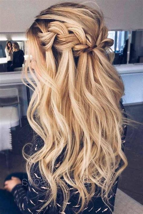 2019 latest long hairstyles for a ball