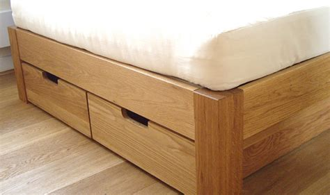 beds with storage drawers underneath made to measure underbed drawers storage for an oak bed