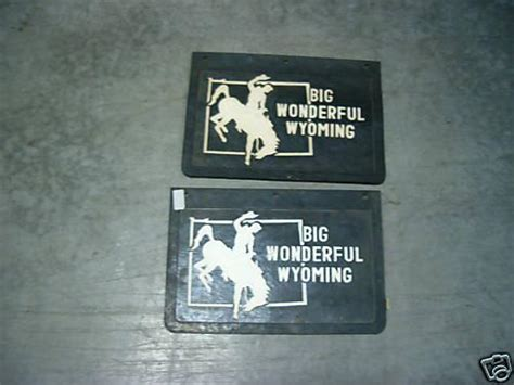 buy big wonderful wyoming bronc mud flaps splash guards