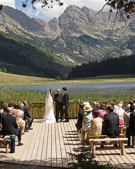 A Formal Green Colored Outdoor Wedding In Colorado