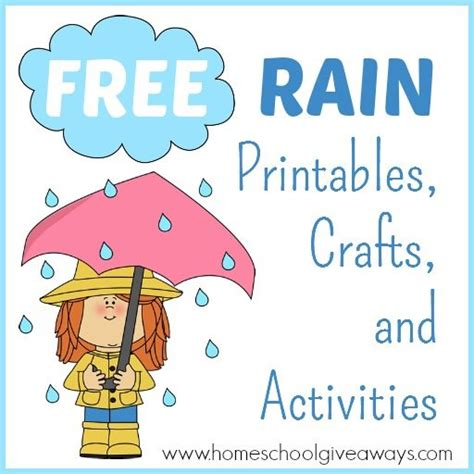 free printables crafts and activities 102 | Rain Activities