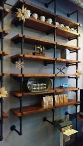 Industrial, Chic, Iron, Pipe, Shelving, Is, Custom, U2013, Fixtures, Close, Up
