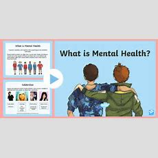 Mental Health Powerpoint  Large Detailed Emotions And Feelings