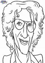 Celebrities Coloring Radio Categories Howard Pages Stern sketch template
