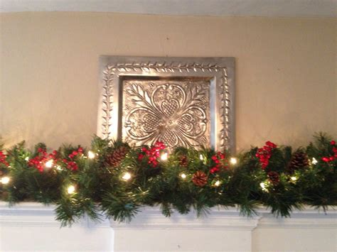mantle garland with lights mantle garland christmas garland red berries pine cones