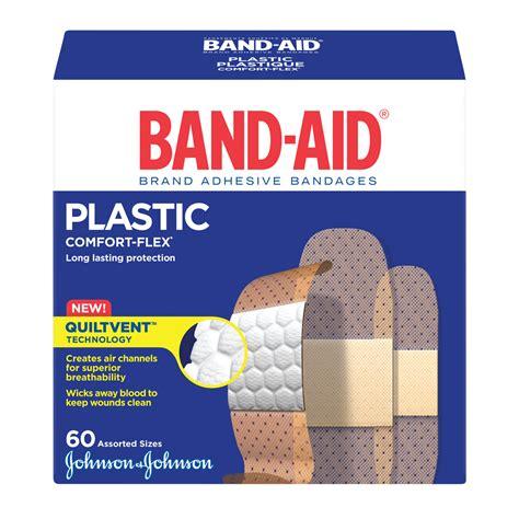 Bandaid Brand Adhesive Bandages, Plastic Strips, One Size