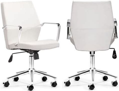 zuo modern 205152 holt low back office chair white pu
