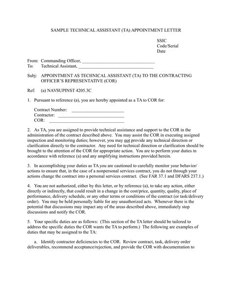 job appointment letter examples  word examples