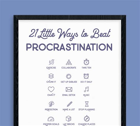 ways  beat procrastination