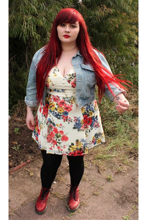 asos dresses  martens boots vintage jackets myer tights redheads   fun  fat