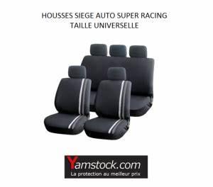 Siege Auto Airbag : housses pour si ges de voiture grise noir super racing compatible airbags ~ Maxctalentgroup.com Avis de Voitures