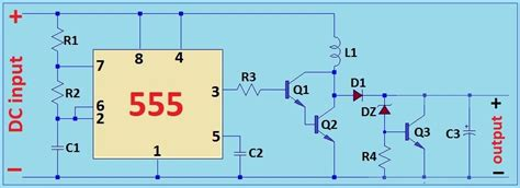 Circuit Diagram 12v To 6v by 6v To 12v Dc Dc Boost Converter Using 555 Timer Ic