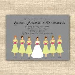 bridesmaids luncheon bridesmaids luncheon invitation bridal brunch diy