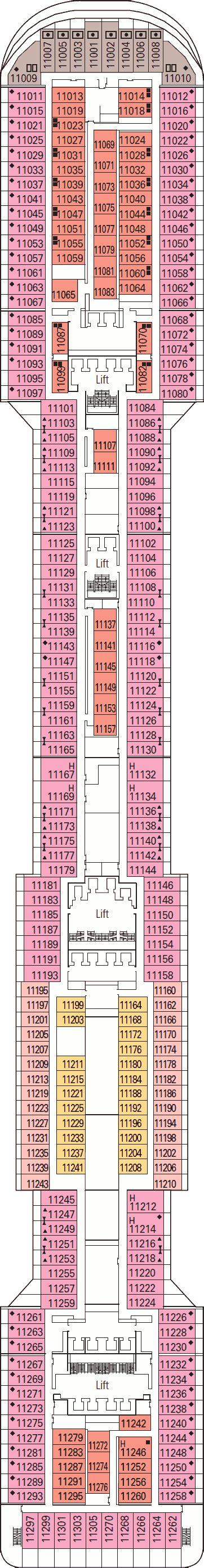 Msc Divina Deck Plan 11 by Msc Divina Deck Plans