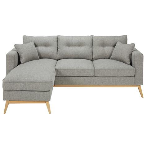 grey fabric corner scandinavian 4 5 seater light grey fabric modular corner