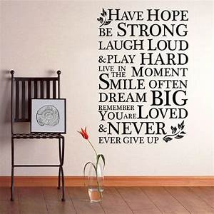 HAVE HOPE INSPI... Large Vinyl Wall Quotes