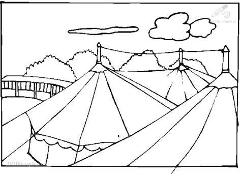 Circustent Kleurplaat by Kleurplaat Circus Tent