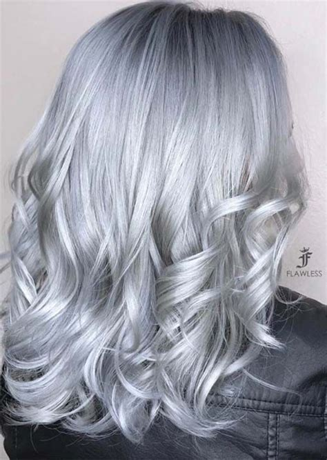 silver grey hair color best 25 blue grey hair ideas on silver blue
