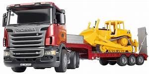 Video De Camion De Chantier : jouet camion bruder scania avec remorque bulldozer caterpillar ~ Medecine-chirurgie-esthetiques.com Avis de Voitures