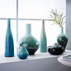 reactive glaze vases everything turquoise With objet de decoration moderne