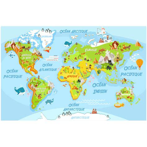 carte du monde enfant sticker carte du monde 233 ducatif pour les enfants stickers animaux animaux de la jungle