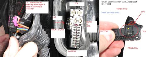 how do i unplug drivers door wiring loom from the car