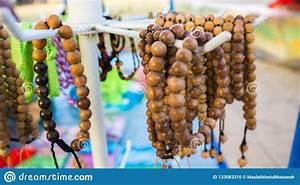 Wood Bracelet Hanging On The Seller Store In Karimun Jawa