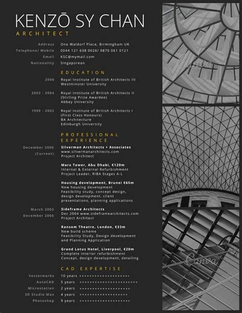 25 unique architect resume ideas on