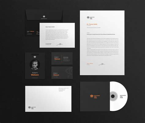 Exclusive and free mockups for your presentations and ui tools. Free Corporate Identity Mockup (PSD)