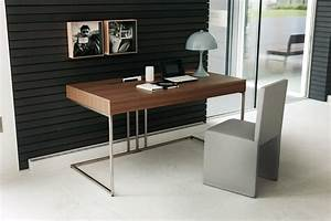 Small office space decorating ideas with amazing wooden for Contemporary office desk for your stylish home office