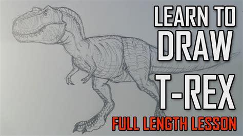learn   draw  tyrannosaurus  rex jurassic park