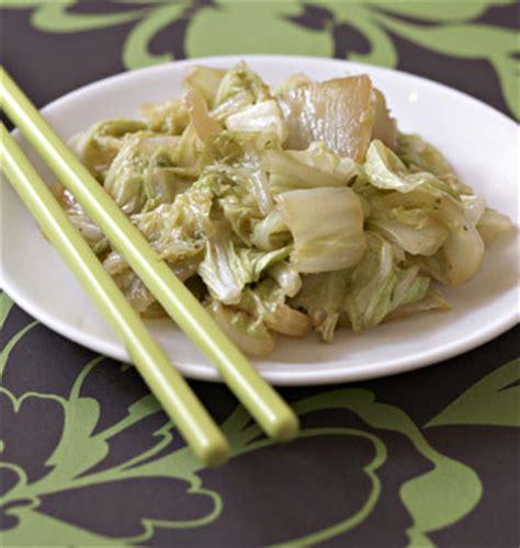 chou chinois cuisine chou chinois sauté au gingembre les meilleures recettes