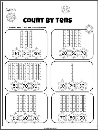 winter counting   base ten blocks madebyteachers