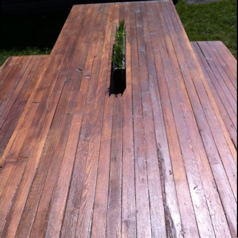 diy  wooden table top view  mike