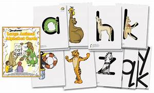 large animal alphabet cards zoo phonics With zoo phonics letter cards