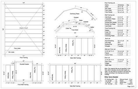 12x16 Shed Plans Material List by 12x16 Barn Storage Shed Plans Buy It Now Get It Fast Ebay