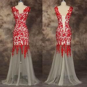 sirene rouge longue robes de marieedemoiselle d39honneur With robe de soirée courte rouge
