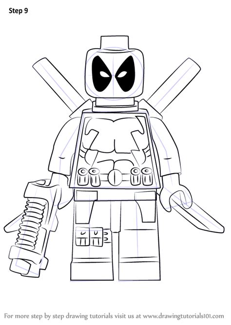 How To Draw A Lego Boat by Learn How To Draw Lego Deadpool Lego Step By Step