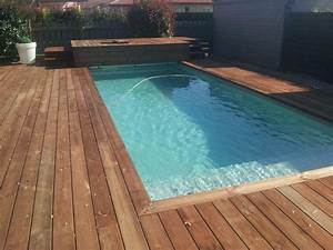 paradisiacq bois fabricant de piscine en kit With lovely photo terrasse bois piscine 3 terrasses en bois